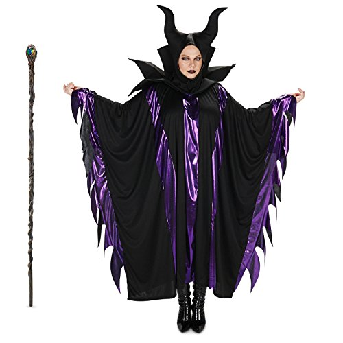 Magnificent Witch Adult Costume and Staff Bundle Set - Plus 1X/3X