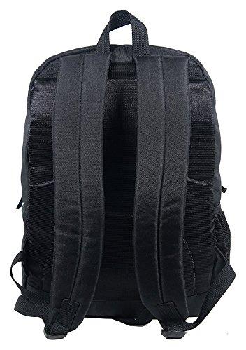 Polestar 28 Ltr viaje portátil Casual Colegio Escuela mochila bolsa Negro