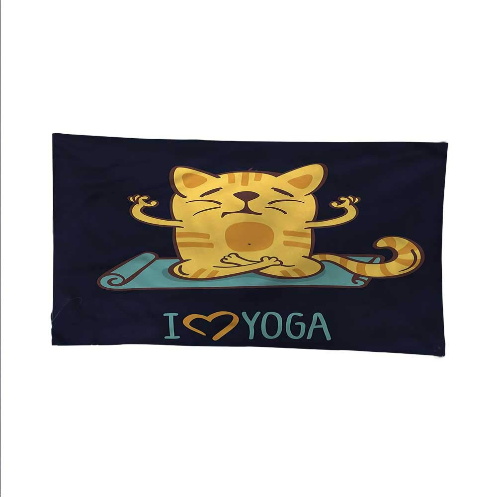 color06 93W x 70L Inch color06 93W x 70L Inch Animalocean tapestrylarge tapestryCute Cat Lotus Position 93W x 70L Inch