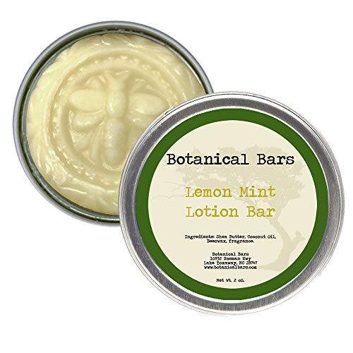 2oz Lemon Mint Lotion Bar All Natural Lotion in Tin
