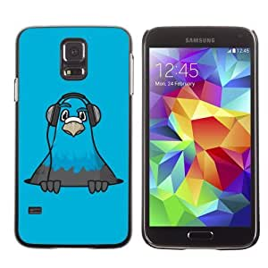 Designer Depo Hard Protection Case for Samsung Galaxy S5 / Cool Owl & Headphones