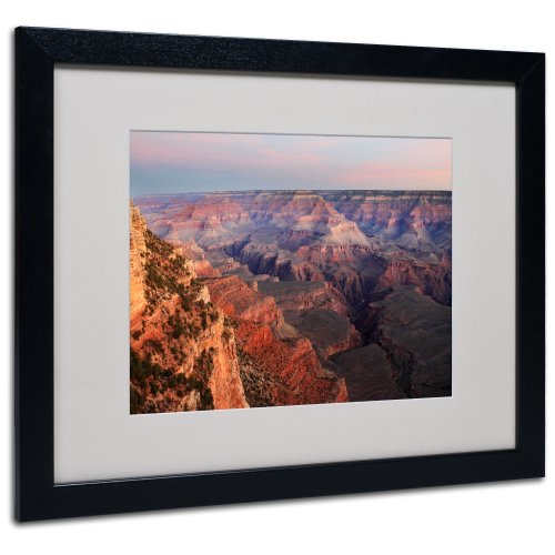 Grand Canyon Sunrise by Pierre Leclerc Canvas Wall Artwork, Black Frame, 16 by 20-Inch