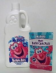 Mr. Bubble Bath Bundle Extra Gentle Magic Snap Pop Fizz Hypo-Allergenic Tear Free