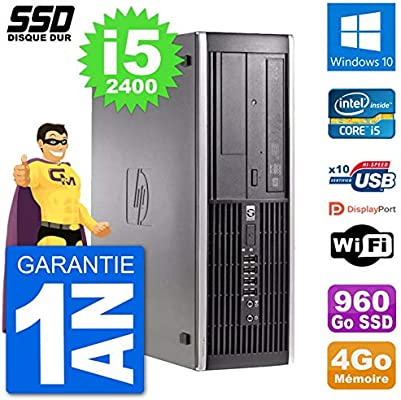 HP PC Compaq 6200 Pro SFF Intel i5-2400 RAM 4GB SSD 960GB Windows ...