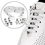 UPRA No Tie Elastic Shoelaces for Kids and Adults, Flat Tieless Athletic Running Shoe Laces, Adjustable Length, Ideal for Runners and Sneakers, Fit Most Shoes (White)