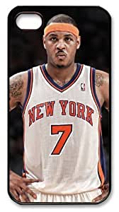 LZHCASE Personalized Protective Case for iPhone 4/4S - Carmelo Anthony, NBA New York Knicks