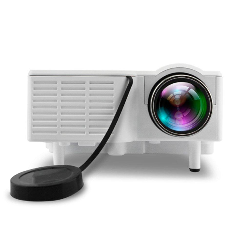 Proyector De Video, Soporte De TecnologíA LCD Actualizado ResolucióN 1080p De 1920  1080, Proyector De 1080p Video PortáTil De Cine En Casa Con Control Remoto Por Infrarrojos FuncióN Soporte Interfaz HDMI VGA e1deaf