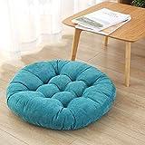 LJ&XJ Thick Seat Cushion, Soft Comfortable Non-Slip Cushion, Solid Color Futon, Floor Office Tatami Sofa Bench Meditation-B diameter55cm(22inch)