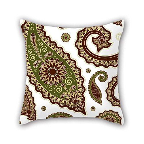 beeyoo 16 X 16 Inches / 40 by 40 cm Paisley Pillowcover Twice Sides Ornament and Gift to Valentine Festival Wedding Bar Seat Son Chair - Ecru Infant Rocker