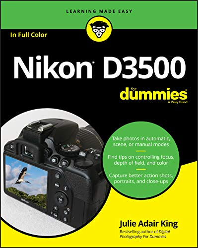 Use your Nikon D3500 camera like the pros Capturing frame-worthy photos is no easy feat — until now! Inside, author Julie King shares her experience as a professional photographer and photography teacher to help you get picture-perfect landscapes, po...