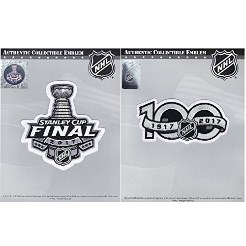2017 Stanley Cup Final & NHL Hockey 100th Centennial Season Jersey Patch (Stanley Cup Patch)