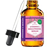 Vitamin C Brightening Serum by Leven Rose 100% Natural Dark Spot Remover for Face for Collagen Boost, Anti-Aging, Deep Hydrating for Dry Skin, Collagen Building Face Moisturizer 1 oz