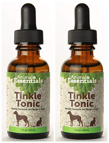 Animal Essentials Naturals Tinkle Tonic Herbal Formula for Dogs and Cats (Pack of 2) with Couchgrass Root, Echinacea, Marshmallow and Dandelion, 1 oz. Each ()