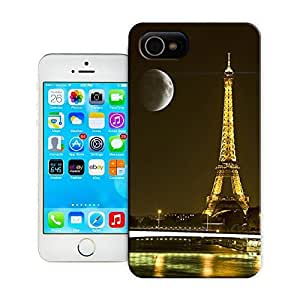 Unique Phone Case Moon over the Paris tower Hard Cover for 4.7 inches iPhone 6 cases-buythecase wangjiang maoyi