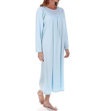 1548e2b2f183 Calida 100% Cotton Knit Long Sleeve Nightgown at Amazon Women's ...
