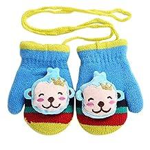 Knit Gloves [Monkey] Kids Mittens Baby Winter Warm Gloves 1-2 Y