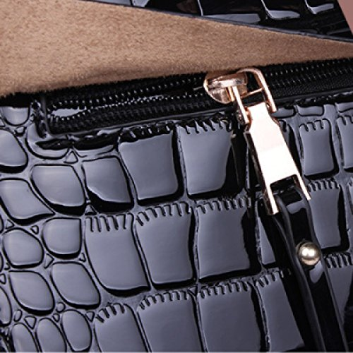 Bag Leather Handbag Cross Shoulder Purple bag Bag Handbags Patent Diagonal Fashion Leather qqgBHv