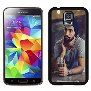 Easy use Cell Phone Case Design with Hot Bearded Guy Crazy Moustache Galaxy S5 Wallpaper