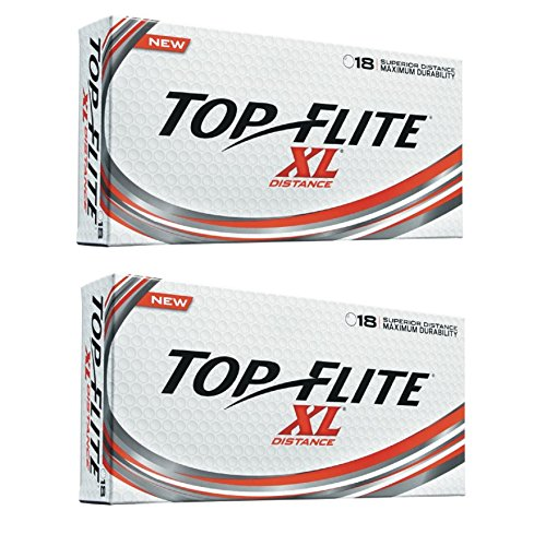2pk Top Flite XL Distance Golf Balls - White - 36 Balls