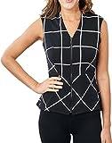 Joseph Ribkofff Black & White Checker Sleeveless Coverup Jacket Style 171852 - Size 14