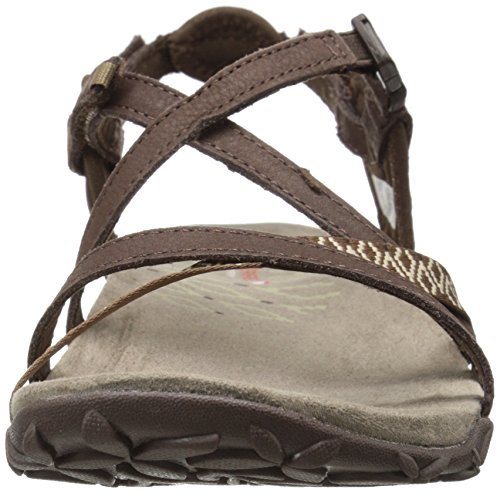 Marron Dark Earth Sandales Terran Femme Lattice Noir II Merrell wYT4Zx
