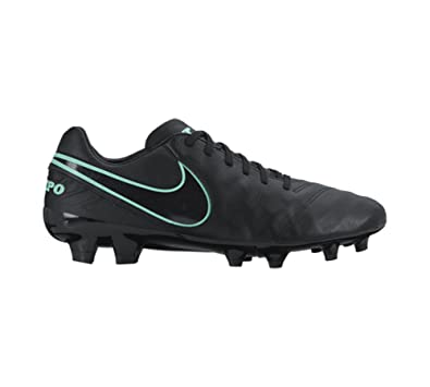 Nike Tiempo Mystic V Firm Ground Cleats [BLACK/BLACK] (7.5)