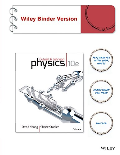 Physics 10E Binder Ready Version  Wileyplus Registration Card