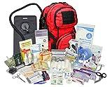 Lightning X Stocked Modular Trauma & Bleeding First Aid Responder Medical Backpack + Kit (Red w/Hydration Bladder)