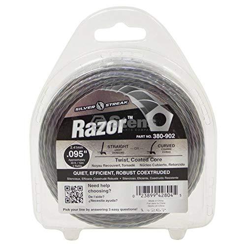 Silver Streak Razor Trimmer Line.095 40' Clam Shell, ea, 1 ()