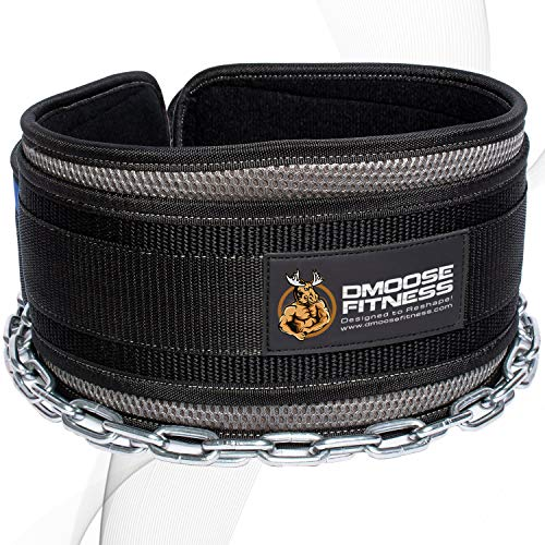 DMoose Fitness Premium Dip Belt with Chain - 36