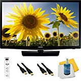 UN24H4000 - 24-inch 720p HD Slim LED TV CMR 120 Plus Hook-Up Bundle. Bundle Includes TV, 3 Outlet Surge protector with 2 USB Ports, 2 -6 ft High Speed 3D Ready 1080p HDMI Cable, Performance TV/LCD Screen Cleaning Kit, and Cleaning Cloth.