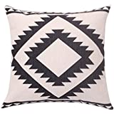 featured product BreezyLife Aztec Throw Pillow Cover Geometric Decorative Pillow Case Square Linen Cushion Cover for Sofa Couch Farmhouse Outdoor Housewarming Gift 18X18 Inches