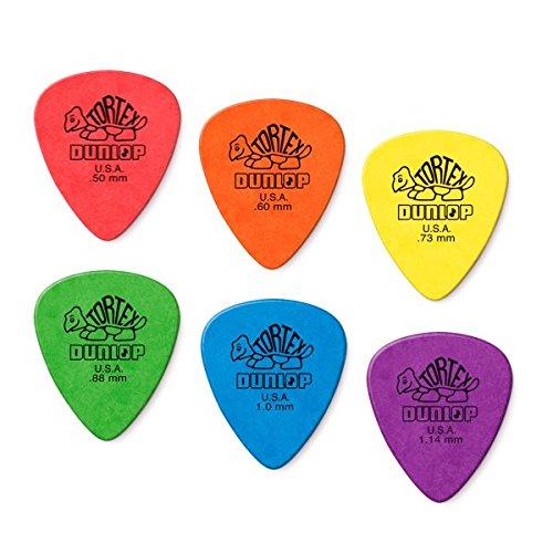 (Dunlop Tortex Standard Picks Sample Variety Mix Pack (2 of each gauge) 12/Player's)
