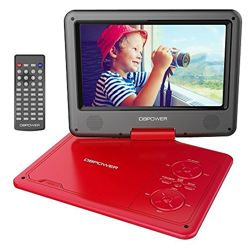 DBPOWER 9.5' Portable DVD Player, 5 Hour Rechargeable Battery, Swivel...