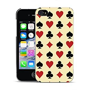 DYEFOR ACES HEARTS SPADES CLUBS SUITS POKER HARD BACK CASE FOR APPLE iPHONE 4 4S