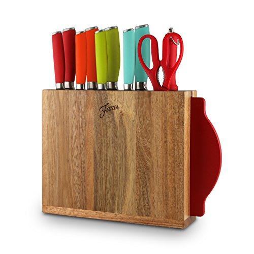 Fiesta 12 Piece Silicone Cutlery Set With Block, Multicolor (Silicone Cutlery Set)
