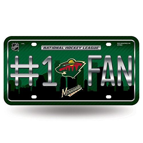 Minnesota Wild Memorabilia (NHL Minnesota Wild #1 Fan Metal Auto Tag, 12 x 6-Inch, Green)