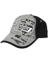 Chevy Men's Chevrolet Distressed Screen-Print Baseball Cap, Grey, one Size