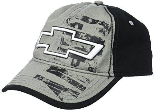 Baseball Chevrolet Hat (Chevy Men's Chevrolet Distressed Screen-Print Baseball Cap, Grey, one Size)