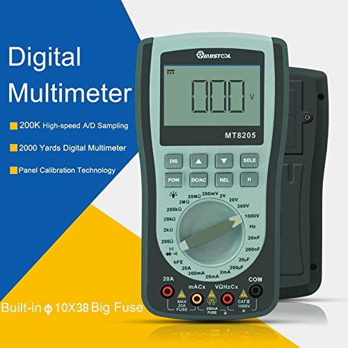 MT8205 2 in 1 Digital Intelligent Handheld Storage Oscilloscope Multimeter AC/DC Current Voltage Resistance Frequency Diode Tester by Krittapas Intertrade