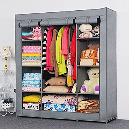 Generic New Reinforced Super Large Portable Folding Clothes Wardrobe Cabinet Armoire Hot