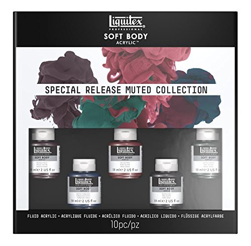 Liquitex Professional Soft Body Acrylic Paint Set, Muted Colors Collection