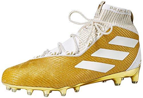(adidas Men's Freak Ultra Football Shoe, White/Gold Metallic, 17 M US )