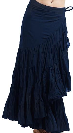 Falda para envolver, falda de flamenco, falda de gitana, falda ...