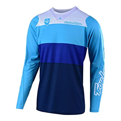 Troy Lee Designs Men's Off-Road Motocross Motorcycle SE Beta Jersey (Blue, X-Large): Automotive