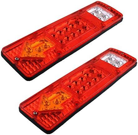 Rücklicht Anhänger Hehemm 19 Led Truck Tail Licht 12v Auto Führte Rücklicht Links Und Rechts Anhänger Lkw Rückleuchte Van Lampe Reversing Lights Satz Von 2 Auto