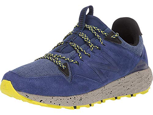New Balance Men's Crag V1 Fresh Foam Running Shoe TECHTONIC BLUE/SULPHUR YELLOW 8 2E US
