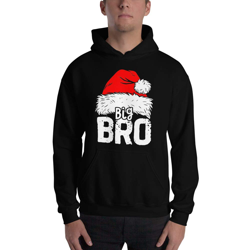 Christmas Big Brother Again Baby Announcement Santa Christmas Hoodies Season elf Brother Santa Big