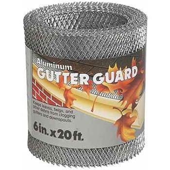 Amerimax Home 85250 6x20 Aluminum Gutter Guard Amazon Com