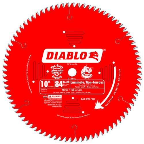 - Freud D1084L 10-Inch Diameter 84t TCG Saw Blade with 5/8-Inch Arbor
